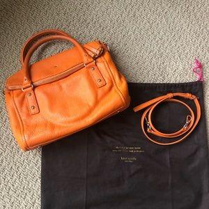 Kate Spade Orange Leather Crossbody